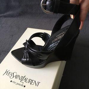 """Vintage Yves Saint Laurent 5"""" Sandals"""